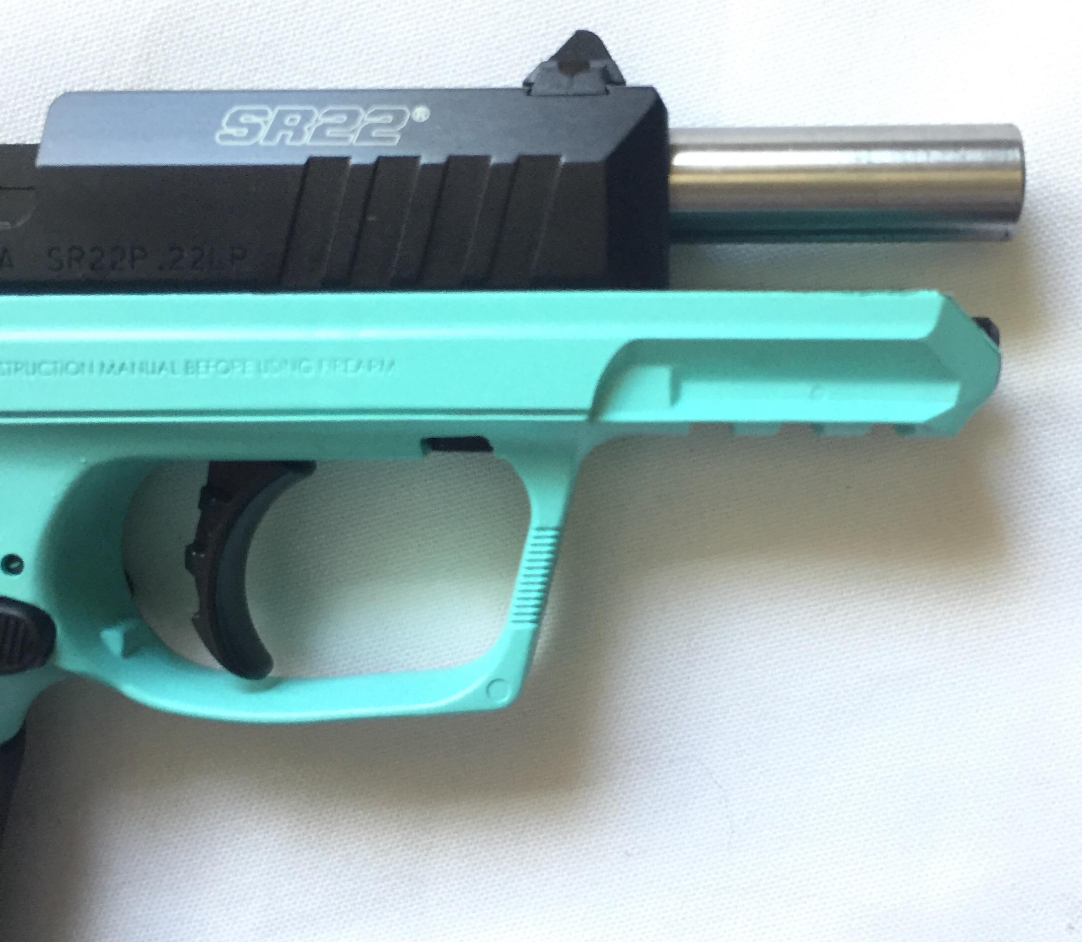 Ruger SR22  22lr Teal Green Blue SR22P-TB 03625 3625