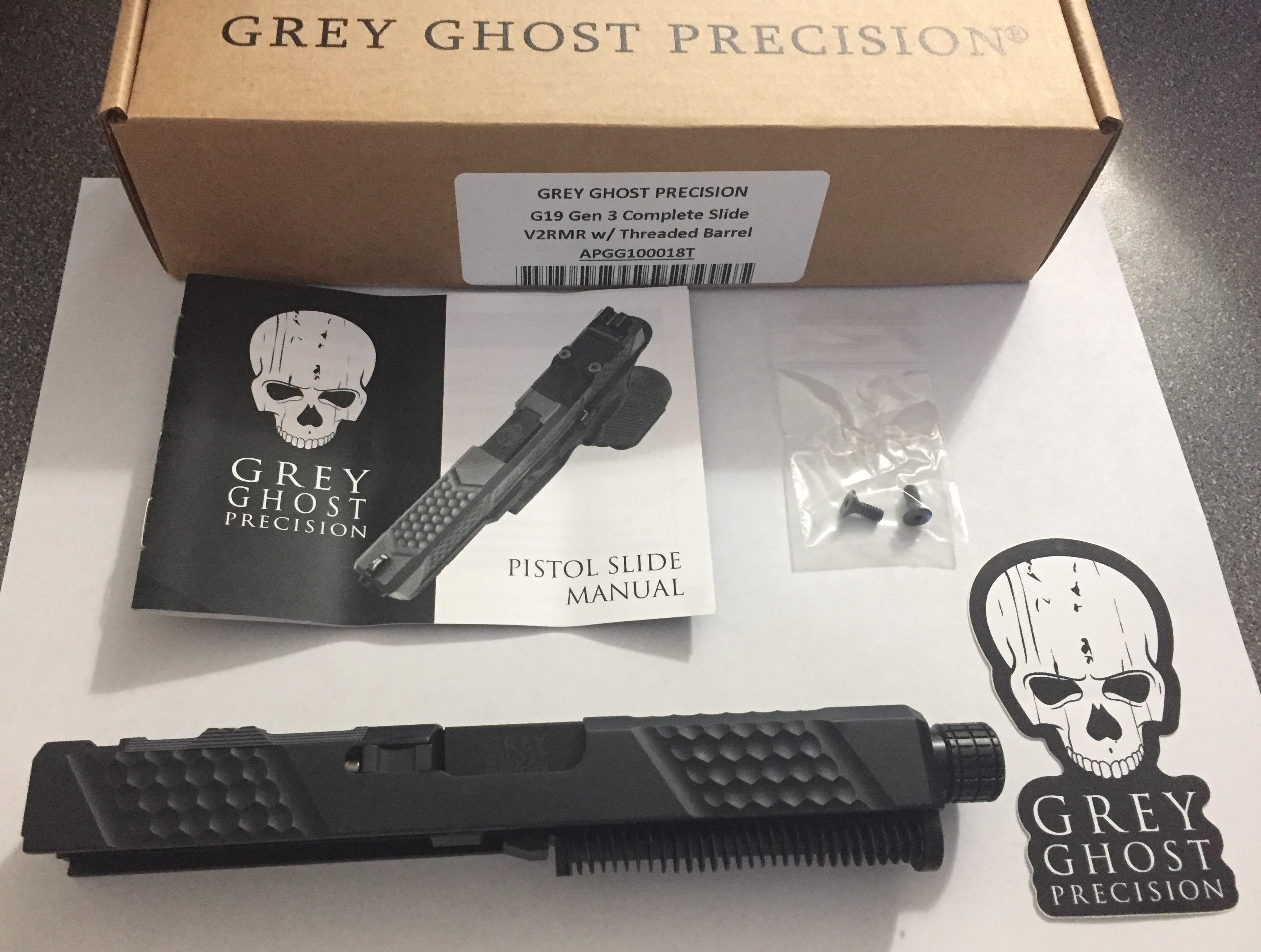 Aero Precision Grey Ghost Precision Glock 19 Slide, Complete V2 APGG100018T  V2RMR
