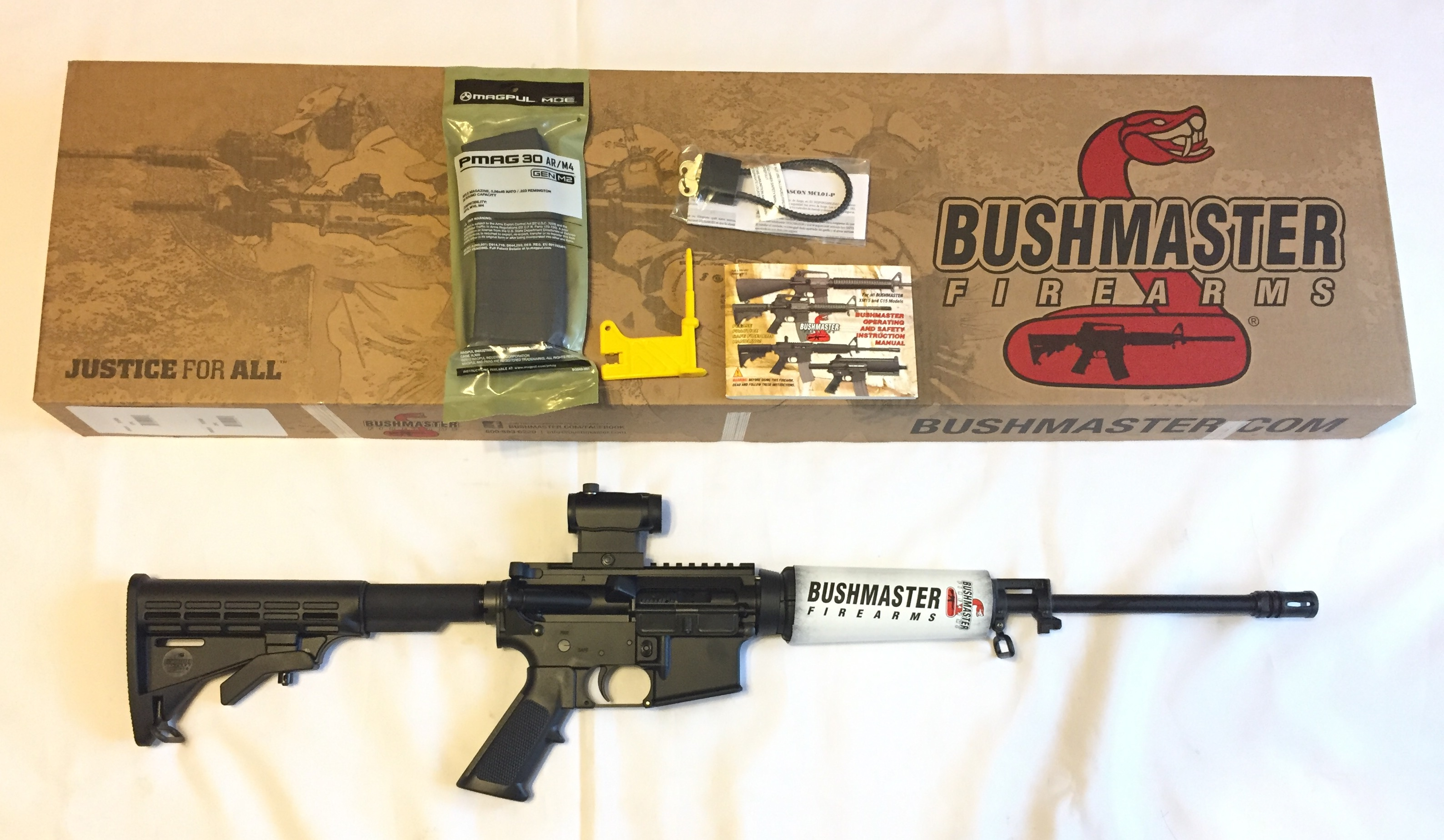 Bushmaster QRC XM-15 RED DOT AR15 91046 5 56  223