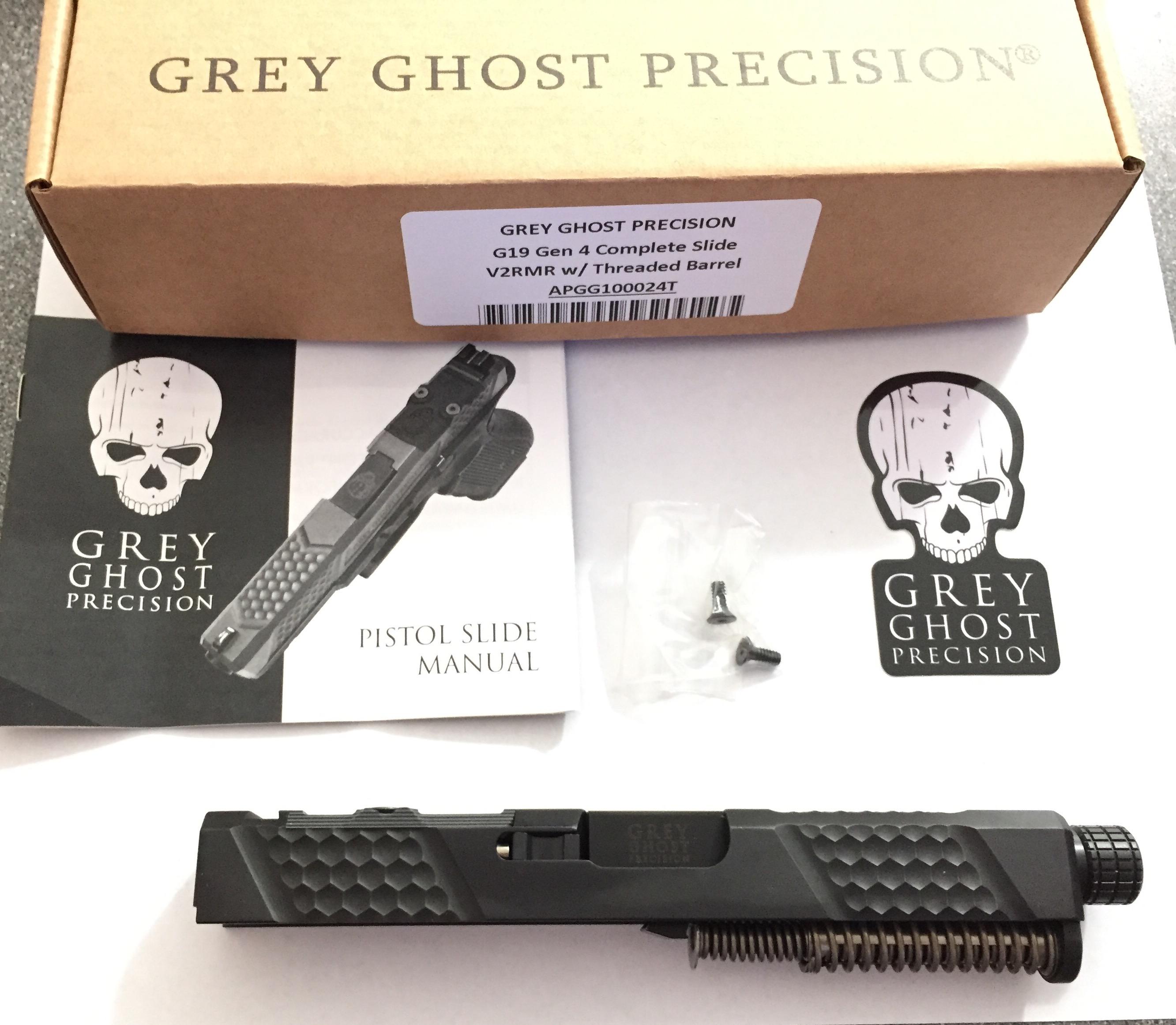 Aero Precision Grey Ghost Precision Glock 19 Slide, Complete V2 APGG100024T  V2RMR GEN 4