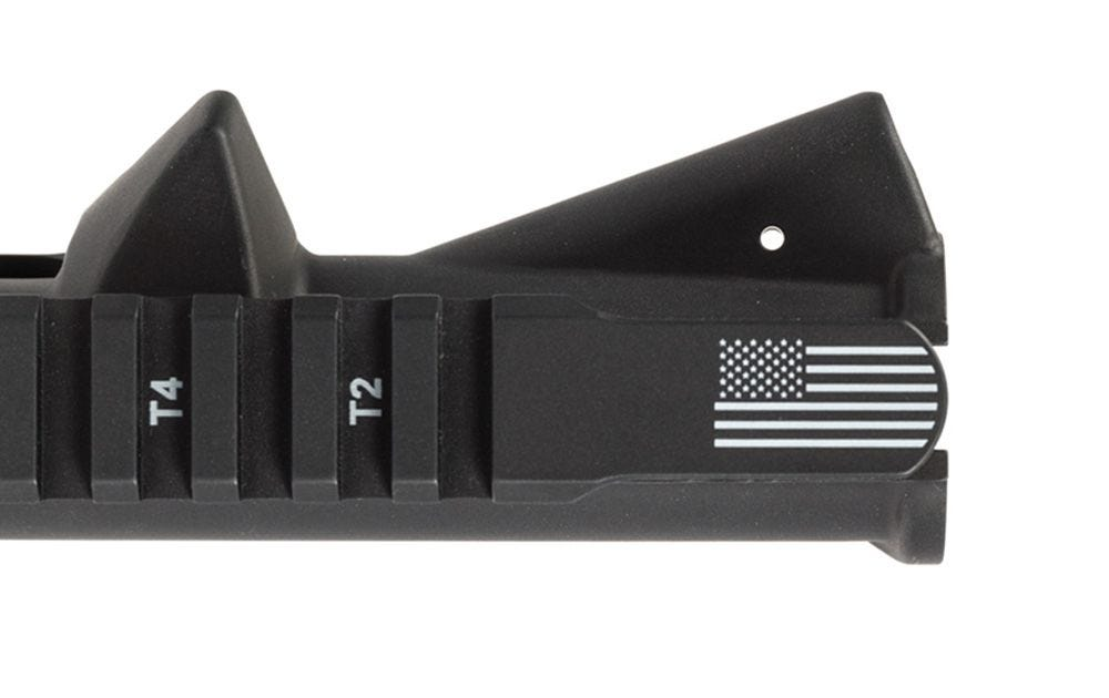 Aero Precision AR15 Stripped Upper Receiver w/ Flag Etching - Anodized Black