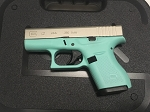 Glock 42 Special Edition - Robins Egg Blue and Shimmering Aluminum