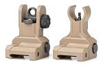 Aero Precision AR Flip up Sights - Gen 2 , FDE