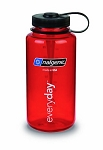 Nalgene 32oz Wide Mouth WM Tritan Red black lid