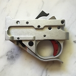 Ruger 10-22  Timney Trigger Silver Housing and Red SHOE 1022-2C-16