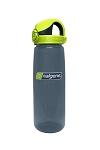 Nalgene OTF 24oz Bottle - Charcoal with Lime Cap