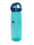 Nalgene OTF 24oz Bottle - Aqua with Blue Cap