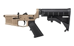 AERO PRECISION M4E1 Complete Lower Receiver w/ A2 Grip and M4 Stock - FDE Cerakote