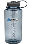Nalgene 32oz Wide Mouth WM Gray with black lid